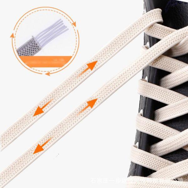 1pair 100cm No Tie Lazy Shoelaces Elastic Rubber Shoes Lace Sneaker Children Safe Elastic Lacets Elastique 5.jpg