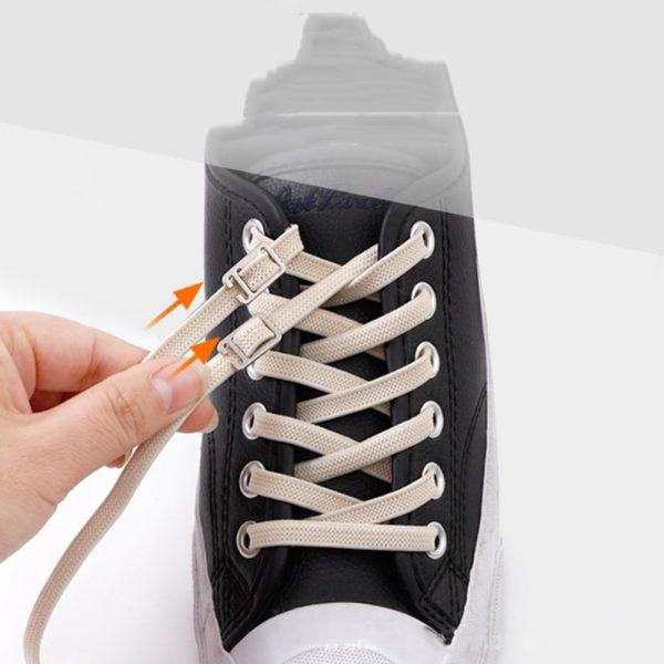 1pair 100cm No Tie Lazy Shoelaces Elastic Rubber Shoes Lace Sneaker Children Safe Elastic Lacets Elastique.jpg