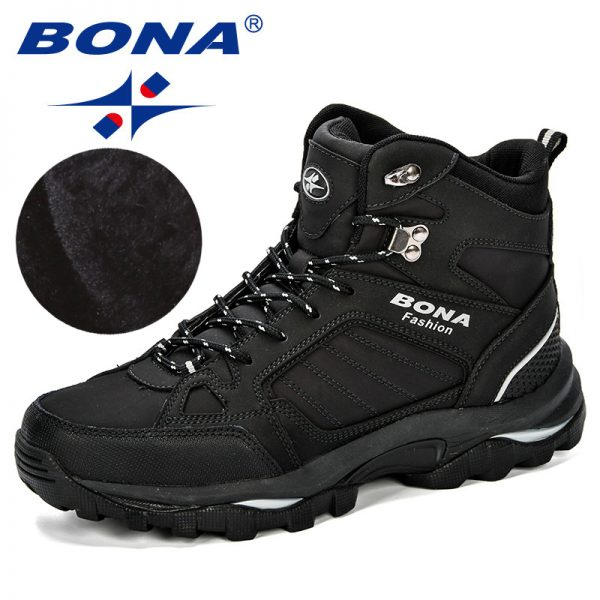 Bona Men Boots Anti Skidding Leather Shoes Men Popular Comfy Spring Autumn Men Shoes Short Plush 1.jpg