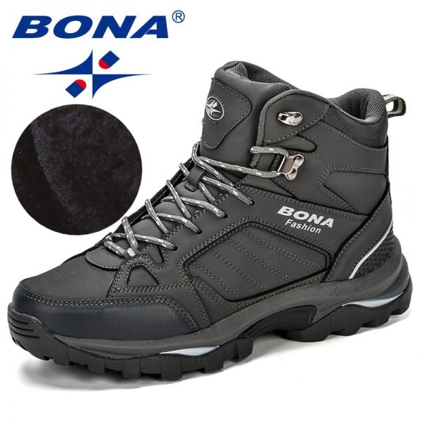 Bona Men Boots Anti Skidding Leather Shoes Men Popular Comfy Spring Autumn Men Shoes Short Plush.jpg