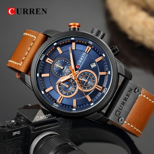 Curren Top Luxury Brand Men Analog Digital Leather Sports Watches Men S Army Military Watch Man 1.jpg