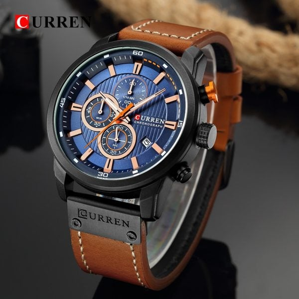 Curren Top Luxury Brand Men Analog Digital Leather Sports Watches Men S Army Military Watch Man 2.jpg
