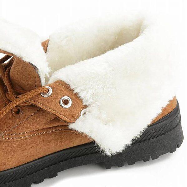 Snow Boots 2019 Warm Fur Plush Insole Women Winter Boots Square Heels Flock Ankle Boots Women 4.jpg