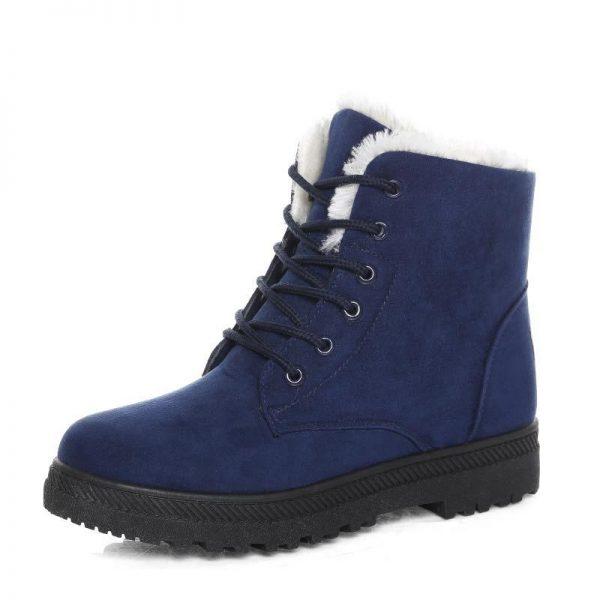 Snow Boots 2019 Warm Fur Plush Insole Women Winter Boots Square Heels Flock Ankle Boots Women 5.jpg