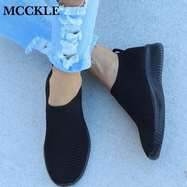 Women Sneaker Air Mesh Soft Female Knitted Vulcanized Shoes Casual Slip On Ladies Flat Shoes Walking 1.jpg