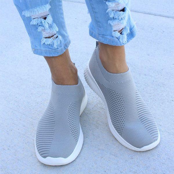 Women Sneaker Air Mesh Soft Female Knitted Vulcanized Shoes Casual Slip On Ladies Flat Shoes Walking 2.jpg