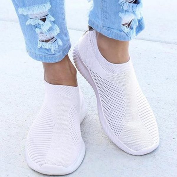 Women Sneaker Air Mesh Soft Female Knitted Vulcanized Shoes Casual Slip On Ladies Flat Shoes Walking 4.jpg