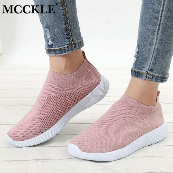 Women Sneaker Air Mesh Soft Female Knitted Vulcanized Shoes Casual Slip On Ladies Flat Shoes Walking.jpg